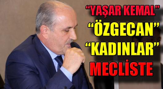 Mecliste Yaşar Kemal, Özgecan ve Kadınlar Gündemde