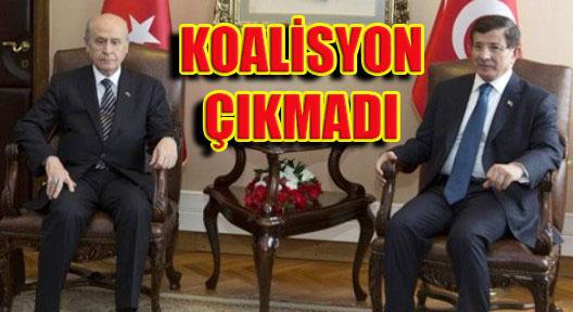AK Parti – MHP Görüşmesinden Koalisyon Çıkmadı