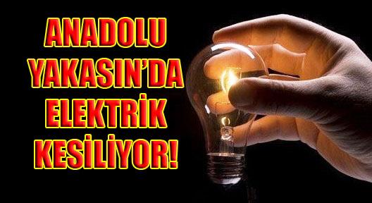 Anadolu Yakası'nda 2 Gün Elektrik Kesiliyor!