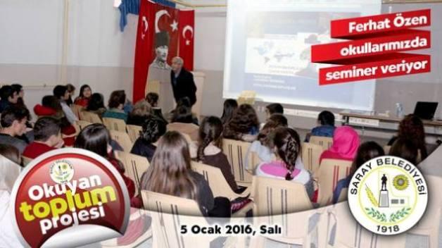"""SARAY OKULLARINDA ÖĞRENCİLERE """"OKUMA AŞISI"""""""