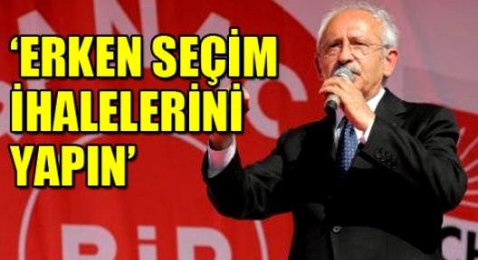 CHP Örgütlerine Erken Seçim Talimatı
