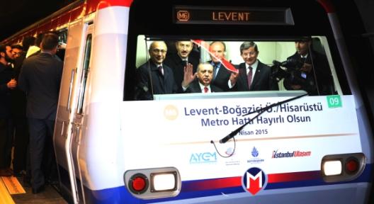 Erdoğan Levent-Hisarüstü Metrosunu Açtı