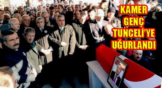 KAMER GENÇ TUNCELİ'YE UĞURLANDI