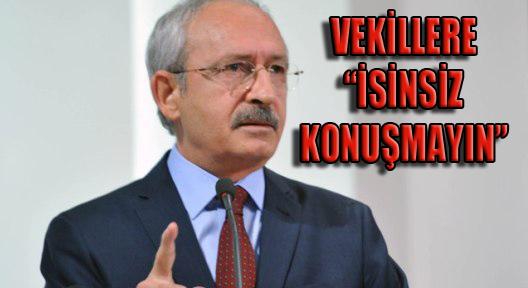 Kılıçdaroğlu'ndan CHP'li Vekillere 'İzinsiz Konuşmayın' Genelgesi