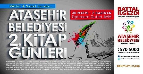 Ataşehir Belediyesi 2. Kitap Günleri 30 Mayıs'ta başlıyor